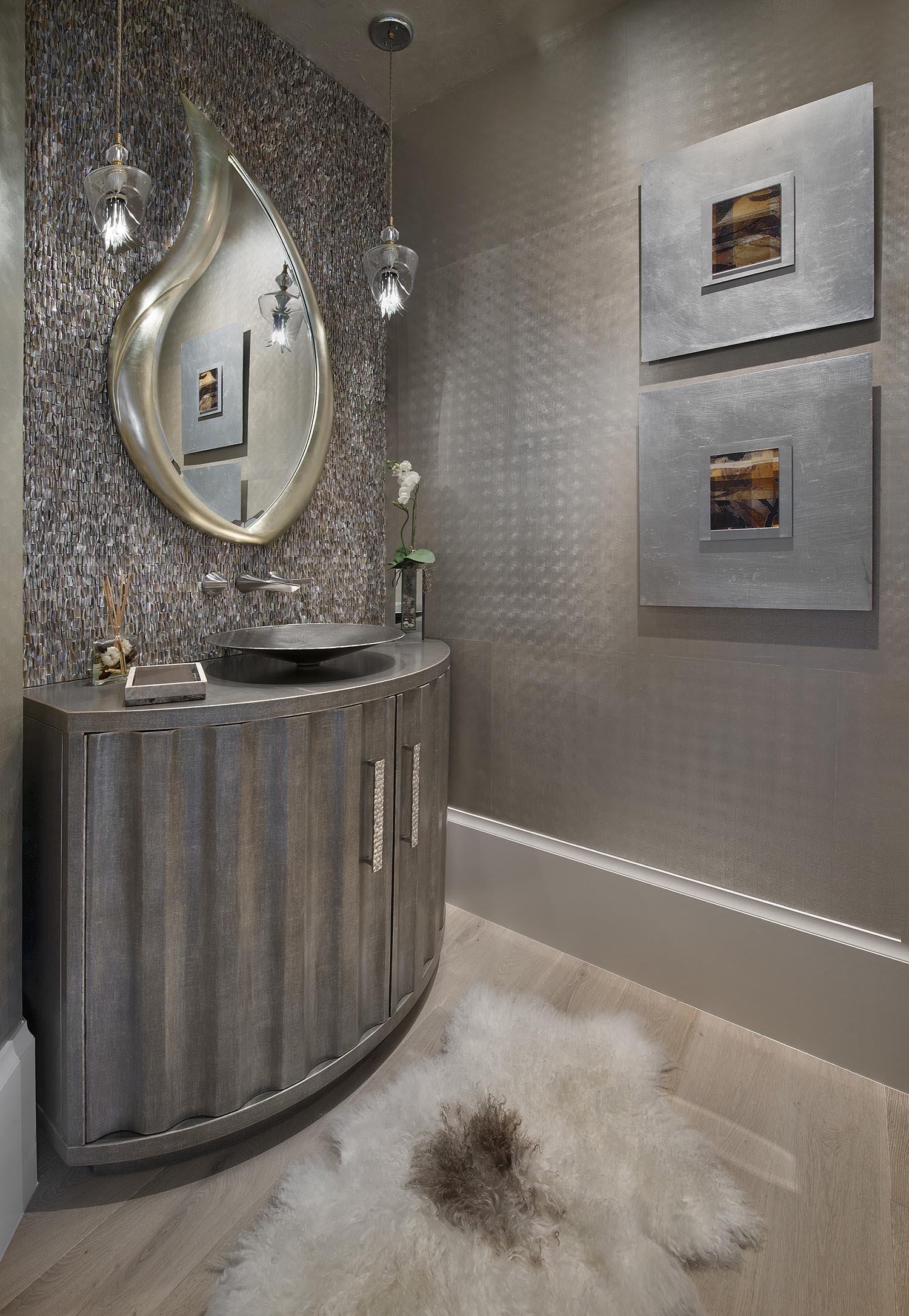 West Bay Club Powder Room - Vogue Interiors